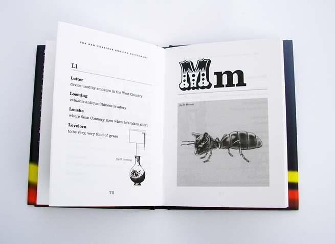 Spread showing page layout of entry page and chapter start