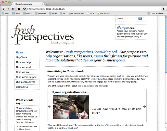 Fresh Perspectives home page
